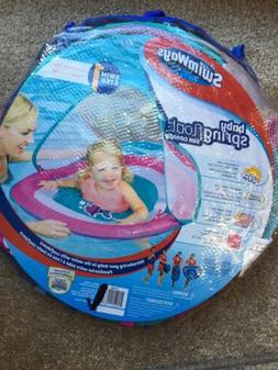 SWIMWAYS SWIM STEP 1 BABY SPRING FLOAT SUN CANOPY AGES 9-24