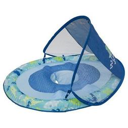 Swim Ways Pool Toys Baby Spring Float with Sun Canopy Blue S