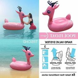swimline inflatable deer baby floating lounger raft