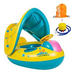 TOAOB Baby Swimming Float Boat Pool with Inflatable Sunshade