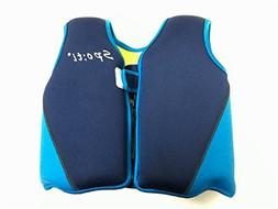 Titop Infant Baby Swimming Jacket Blue+Yellow Back Small for