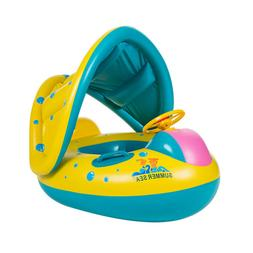 Baby Toddler Float Seat Boat Inflatable Sunshade Kid Swim Po