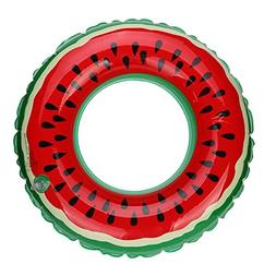 Livoty HOT Swimming Pool Inflatable Watermelon Swim Ring Adu