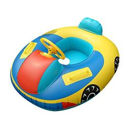 QHYK Baby Swimming Pool Float, Inflatable Baby Swimming Car