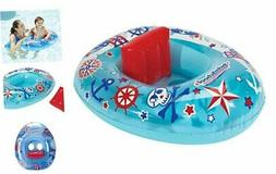 SwimSchool Lil' Skipper Baby Pool Float, Baby Boat with Ad