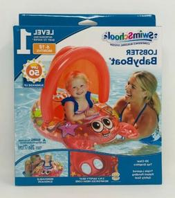 SwimSchool Lobster Inflatable Baby Boat Sunshade Float  6-18