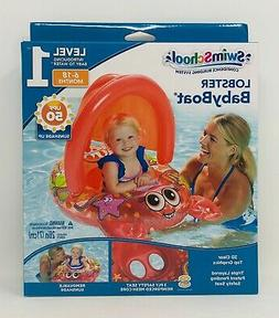 SwimSchool Lobster Inflatable Baby Boat Sunshade Float Level