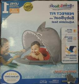 SwimSchool ET9151 Sparky-The-Shark Fabric Baby Boat, Retract