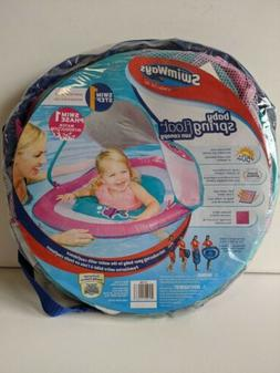 SwimWay Baby Spring Pool Float with Sun Canopy Pink/Blue Fis
