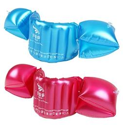 Kids Toddler Deluxe Life Jacket Swim Trainers Arm Bands Ring