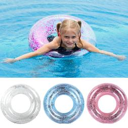 Transparent Sequins Swimming Ring Neck Ring Tube Safety Infa