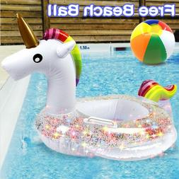 Unicorn Baby Swimming Pool Floats With Safety Handle  Seat,