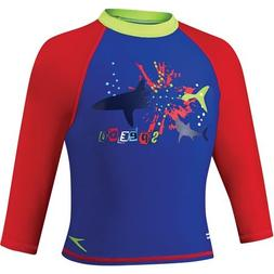 Speedo Kids' UPF 50+ Begin to Swim Long Sleeve Sun Shirt, Bl