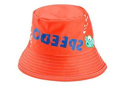 Speedo Kids UPF 50+ Bucket Hat with Chin Strap, Orange Crush