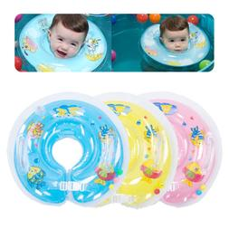 US Inflatable Circle Star Newborn Neck Float Infant Baby Swi