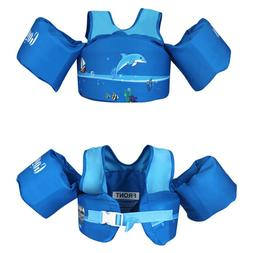 US Kids Baby Floats Dolphin Pool Life Jacket Swimming Paddle