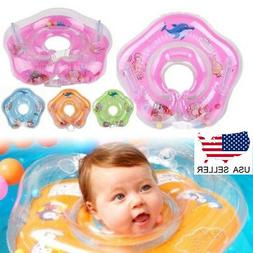US Newborn Infant Baby Swimming Neck Float Ring Toy Inflatab