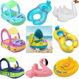 US Sunshade Flamingo Baby Kids Float Seat Inflatable Swim Sw