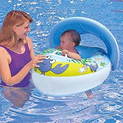 Loveyikee Baby Water Floats Toys with Inflatable Sunshade Sw