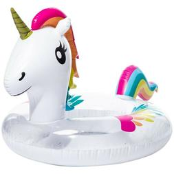 White Unicorn baby kids Swimming inflatable pool floats Pool