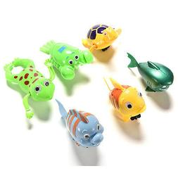 Wind-up Swimming Animal Toy Child Baby Boy Girl Bath Time Cl